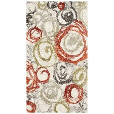 Nanette Ivory / Green Contemporary Rug