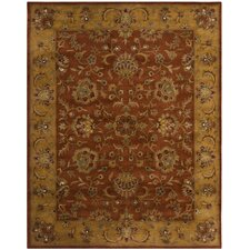 Balthrop Brown/Yellow/Brick Red Area Rug