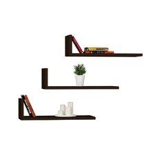 L-Model Floating Shelf (Set of 3) by Decortie Design