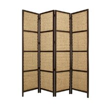 96 x 80 Braided Rope 4 Panel Room Divider by Screen Gems