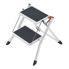Mini 2-Step Plastic Step Stool with 159kg Load Capacity
