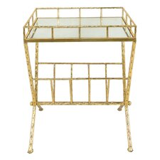 Metal and Glass End Table by Sagebrook Home