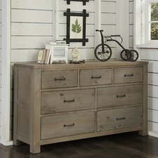 Wilbur 7 Drawer Double Dresser with Mirror by Viv + Rae