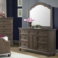 Hysham 7 Drawer Dresser with Mirror by Loon Peak