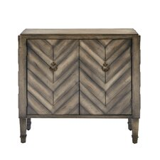Umana Chevron Accent 2 Door Chest by Bungalow Rose