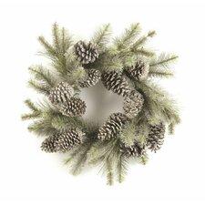 Vintage Glitter Pine Wreath