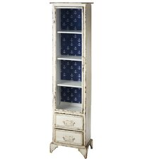 Prentiss Tall Distressed Cabinet with Anchor Pattern by Breakwater Bay