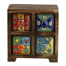 Curios 4 Drawer Wood Apothecary Chest by Kindwer