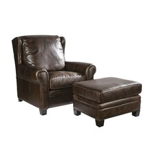 Sawyer Club Chair and Ottoman by Palatial Furniture