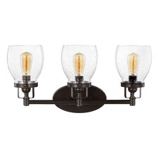 Yesler Heirloom Bronze 3-Light Vanity Light