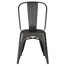 Armless Stackable Bistro Side Chair (Set of 2)