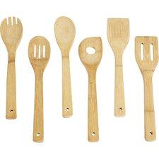 Wayfair Basics Bamboo 6 Piece Kitchen Utensil Set