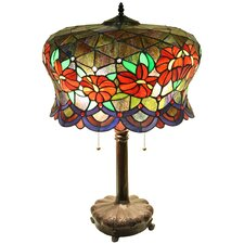 "Zohara 2-Light Stained Glass 18"" Table Lamp"