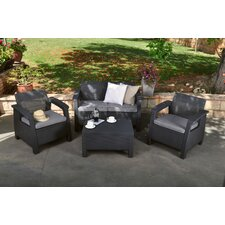 Colona 4 Piece Seating Group with Cushions by Varick Gallery®