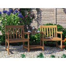 Ilka Wooden Love Seat