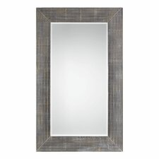 Contemporary Gray and Steel Wall Mirror