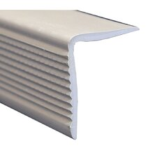 """1.13"""" x 1.38"""" x 72"""" Stair Nose in Grey"""