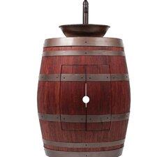 28 Single Wine Barrel Vanity Set by Premier Copper Products