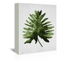 Tropical Leaf 2 Graphic Art on Wrapped Canvas
