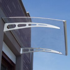 PA Series Solid Polycarbonate 5 ft. W x 3 ft. D Door Awning