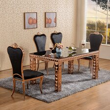 Diamond Dining Set with 4 Chairs