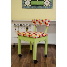 Sewing Underseat Storage Side Chair by Arrow Sewing Cabinets