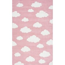 Lily Cloudy Sachiko Hand-Tufted Pink Area Rug