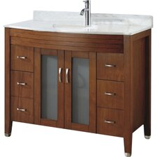 Alfa 42 Single Bathroom Vanity Set with Mirror by Bauhaus Bath
