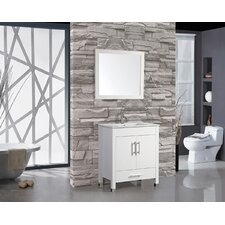 "Monaco 36"" Single Sink Bathroom Vanity Set with Mirror"
