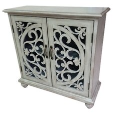 Sarrant 2 Door Fretwork Cabinet by One Allium Way