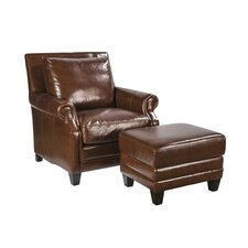 Stewart Club Chair and Ottoman by Palatial Furniture