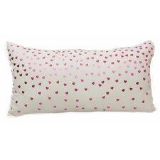Emma and Violet Foil Hearts Lumbar Pillow