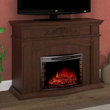 """Ares Alessandra 50"""" TV Stand with Electric Fireplace"""