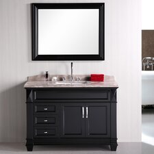 Halcomb 48 Single Bathroom Vanity Set with Mirror by Red Barrel Studio