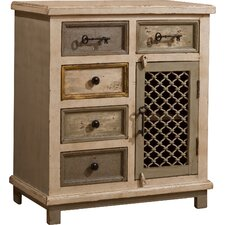 Union Point 5 Drawer Cabinet with Chicken Wire by August Grove