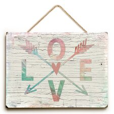 Love Arrow Textual Art  by Brayden Studio