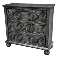 Monreal 3 Drawer Pattern Front Chest by One Allium Way