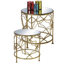 Ettinger 2 Piece End Table Set (Set of 2) by House of Hampton