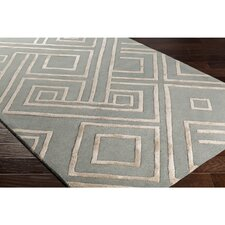 Vazquez Hand-Tufted Rectangle Green/Neutral Area Rug
