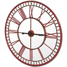 """Round Red 42"""" Wall Clock"""