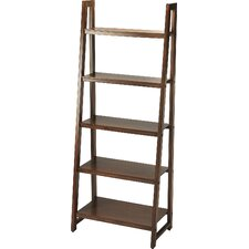 "Fairfield 76"" Leaning Bookcase"