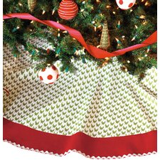 North Pole Bright Tree Skirt in Green & Red