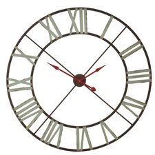 """Oversized 48"""" Red/Blue Wall Clock"""