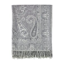 Jacquard Ravenna Paisley Cotton & Wool Throw