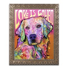 Love is Golden' by Dean Russo Framed Graphic Art by Trademark Fine Art