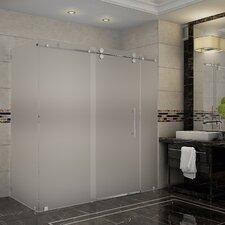 Langham 72 x 35 x 75 Frameless Sliding Shower Enclosure by Aston