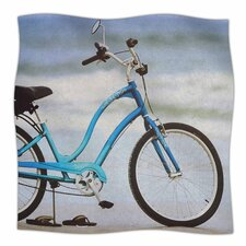 'Beach Bike' By Angie Turner Fleece Blanket