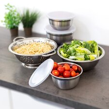 5 Piece Stainless Steel Mixing Bowl Set
