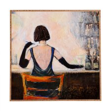 Bar Scene Woman Framed Graphic Art