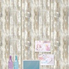 "Peel and Stick 16.5' x 20.5"" Wood Distressed Roll Wallpaper"